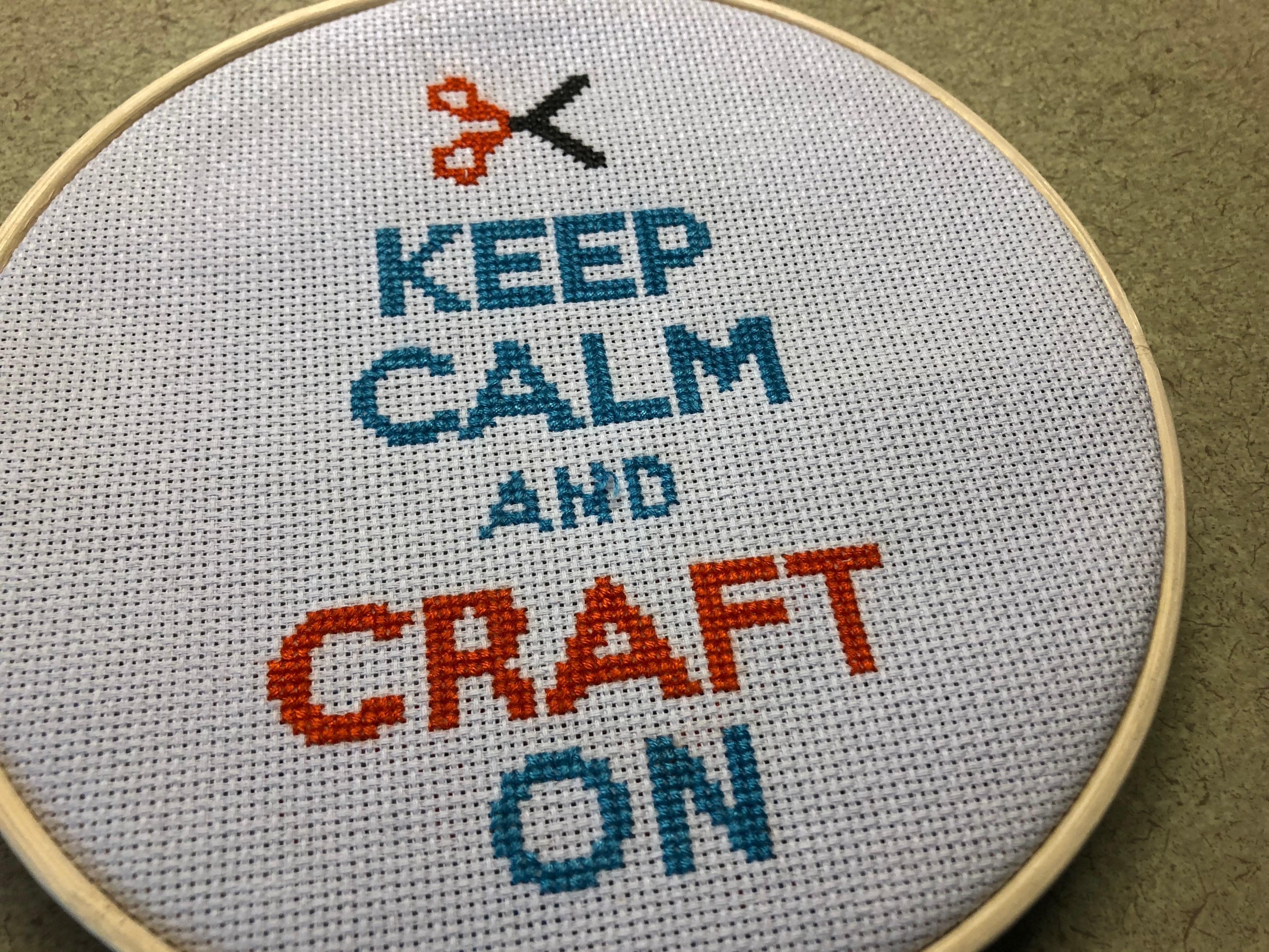 Keep Calm and Craft On cross stitch