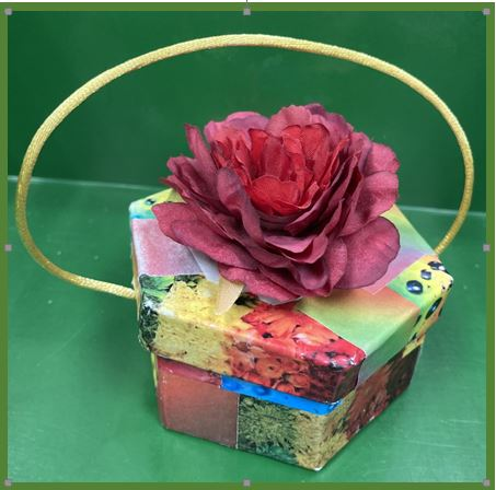 Picture of a Make and Take Rain Bonnet Box