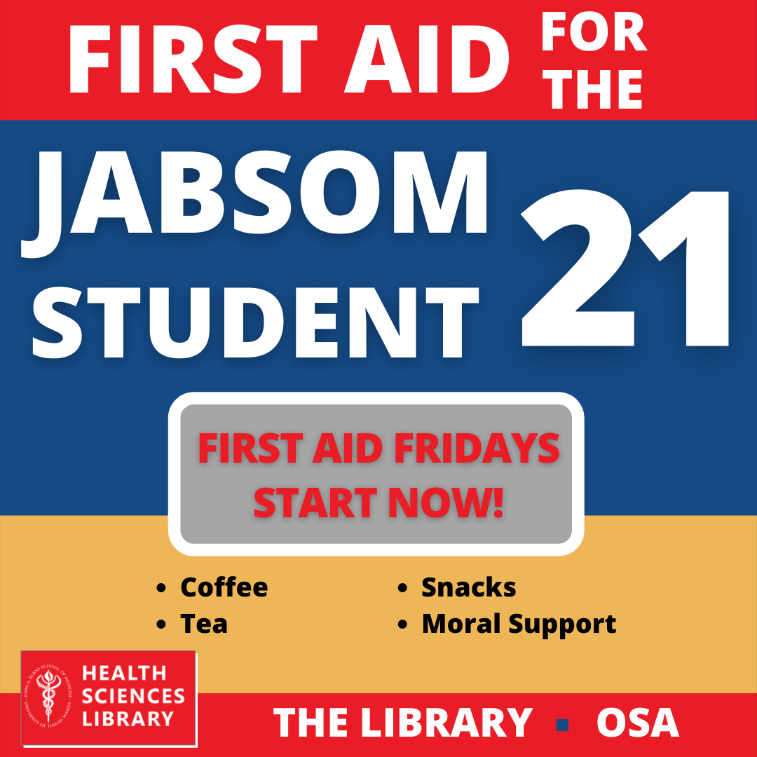 First aid fridays are back at the library