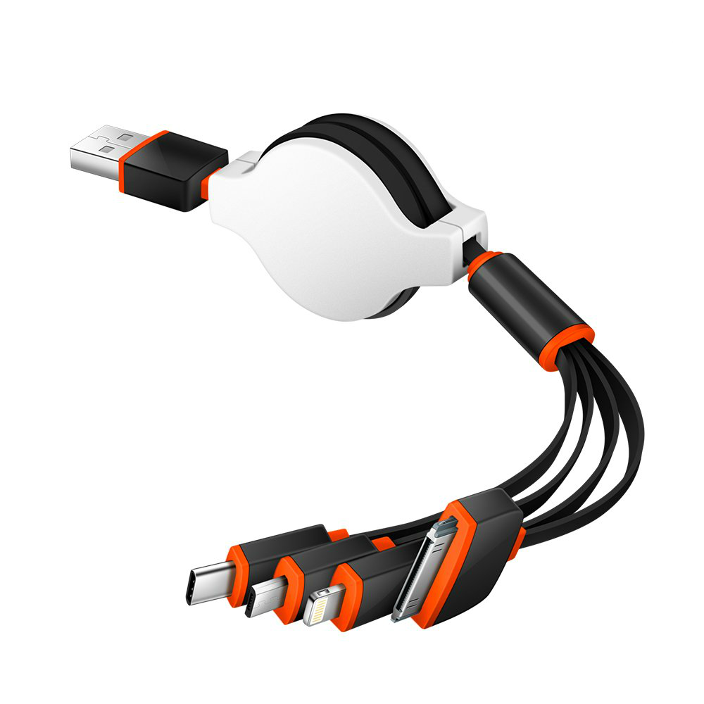Image of the 4-in-1 USB charging cable