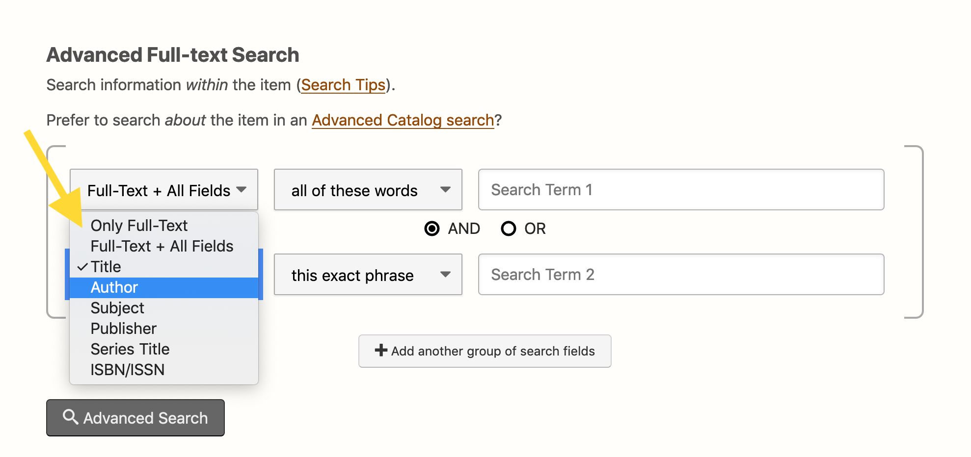 Hathi Trust Advanced Full-text Search