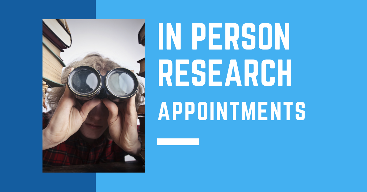 In Person Research Appointments