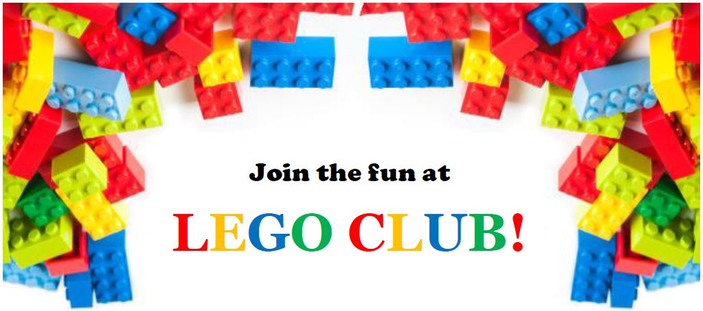 Lego Club text and graphic