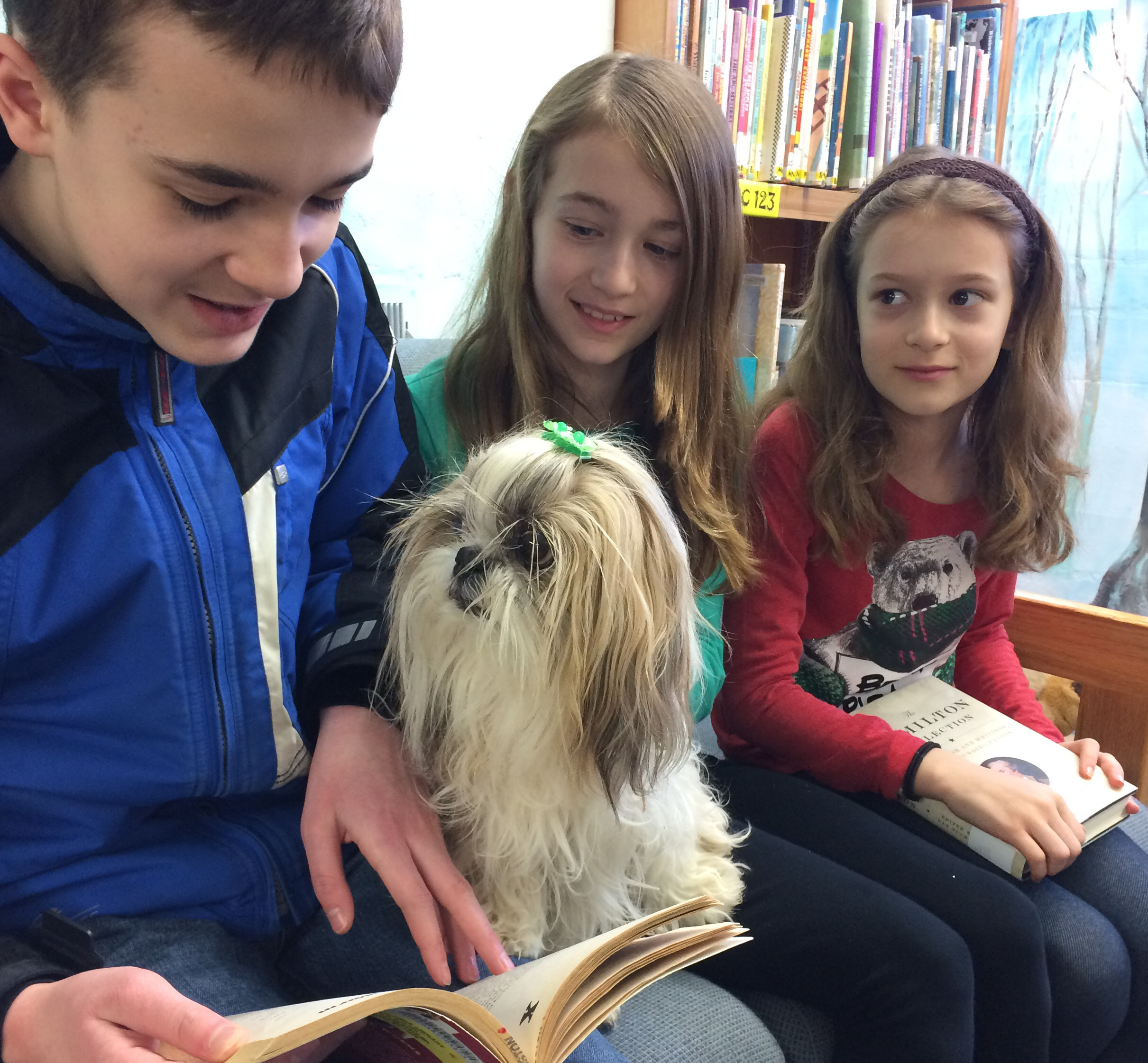 Reading Therapy Dog on Staff