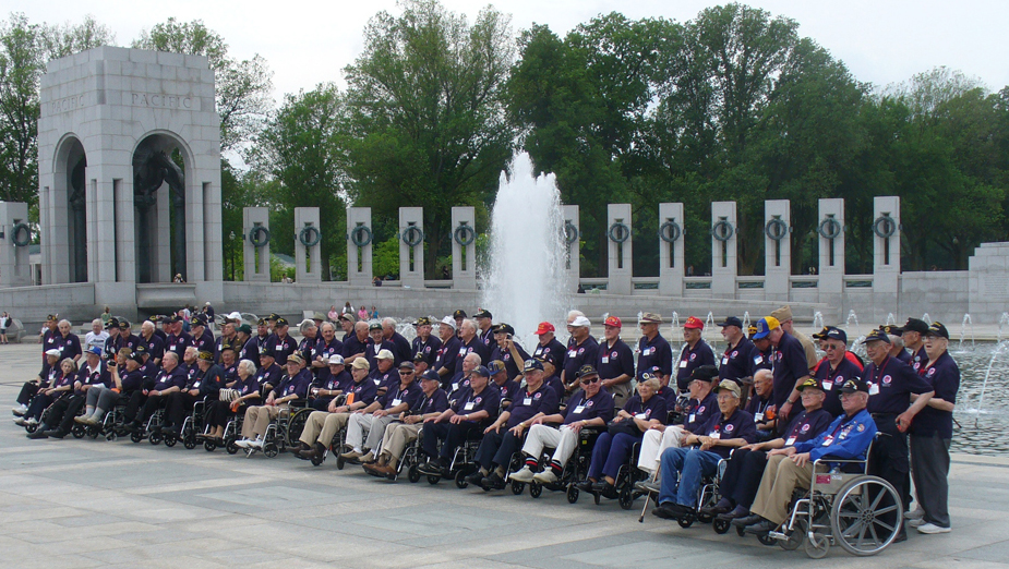 "WORLD WAR II VETERANS A group of elderly men, many in wheelchairs, all dressed in blue shirts and baseball caps, are shown standing and sitting in a memorial setting, with a fountain and pillars behind them. World War II (1941–1945) veterans and members of an Honor Flight from Milwaukee, Wisconsin, visit the National World War II Memorial in Washington, DC. Most of these men and women were in their late teens or twenties when they served. (Photo courtesy of Sean Hackbarth/flickr)  World War II veterans are aging. Many are in their eighties and nineties. They are dying at an estimated rate of about 740 per day, according to the U.S. Veterans Administration (National Center for Veterans Analysis and Statistics 2011). Data suggest that by 2036, there will be no living veterans of WWII (U.S. Department of Veteran Affairs).  When these veterans came home from the war and ended their service, little was known about posttraumatic stress disorder (PTSD). These heroes did not receive the mental and physical healthcare that could have helped them. As a result, many of them, now in old age, are dealing with the effects of PTSD. Research suggests a high percentage of World War II veterans are plagued by flashback memories and isolation, and that many ""self-medicate"" with alcohol.  Research has found that veterans of any conflict are more than twice as likely as nonveterans to commit suicide, with rates highest among the oldest veterans. Reports show that WWII-era veterans are four times as likely to take their own lives as people of the same age with no military service (Glantz 2010).  In May 2004, the National World War II Memorial in Washington, DC, was completed and dedicated to honor those who served during the conflict. Dr. Earl Morse, a physician and retired Air Force captain, treated many WWII veterans. He encouraged them to visit the memorial, knowing it could help them heal. Many WWII veterans expressed interest in seeing the memorial. Unfortunately, many were in their eighties and were neither physically nor financially able to travel on their own. Dr. Morse arranged to personally escort some of the veterans and enlisted volunteer pilots who would pay for the flights themselves. He also raised money, insisting the veterans pay nothing. By the end of 2005, 137 veterans, many in wheelchairs, had made the trip. The Honor Flight Network was up and running.  As of 2010, the Honor Flight Network had flown more than 120,000 U.S. veterans of World War II, and some veterans of the Korean War, to Washington. The round-trip flights leave for day-long trips from airports in thirty states, staffed by volunteers who care for the needs of the elderly travelers (Honor Flight Network 2011)."