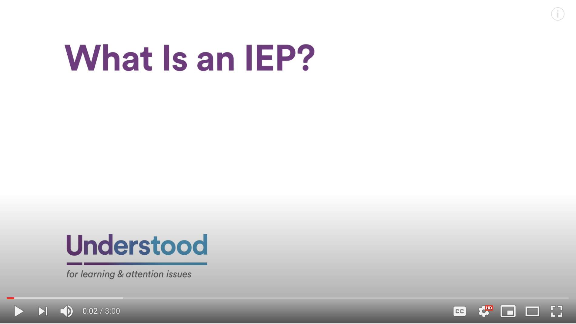 Screenshot for the video What Is an IEP?