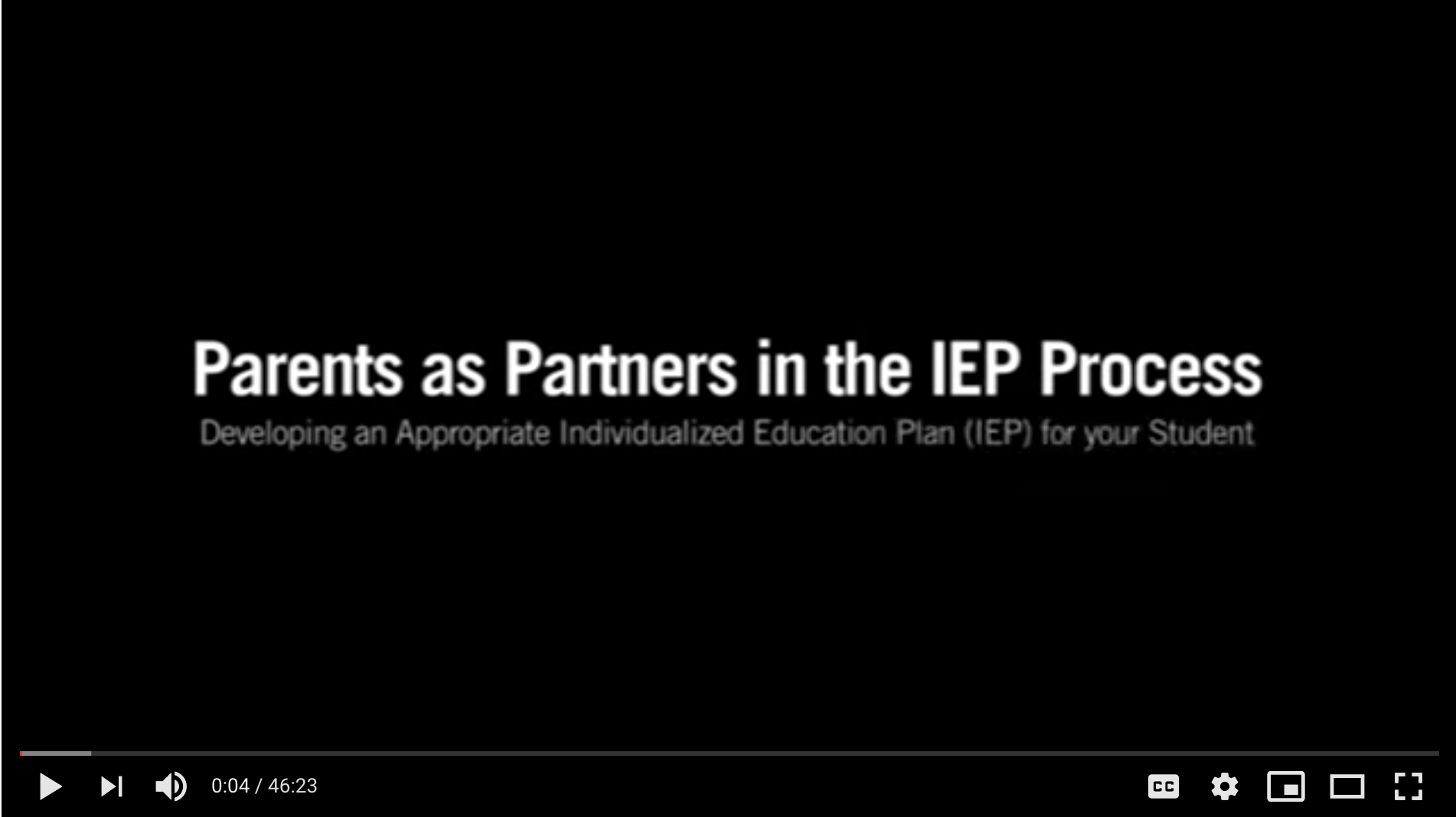 Screenshot for the video Developing the Individualized Education Plan (IEP).