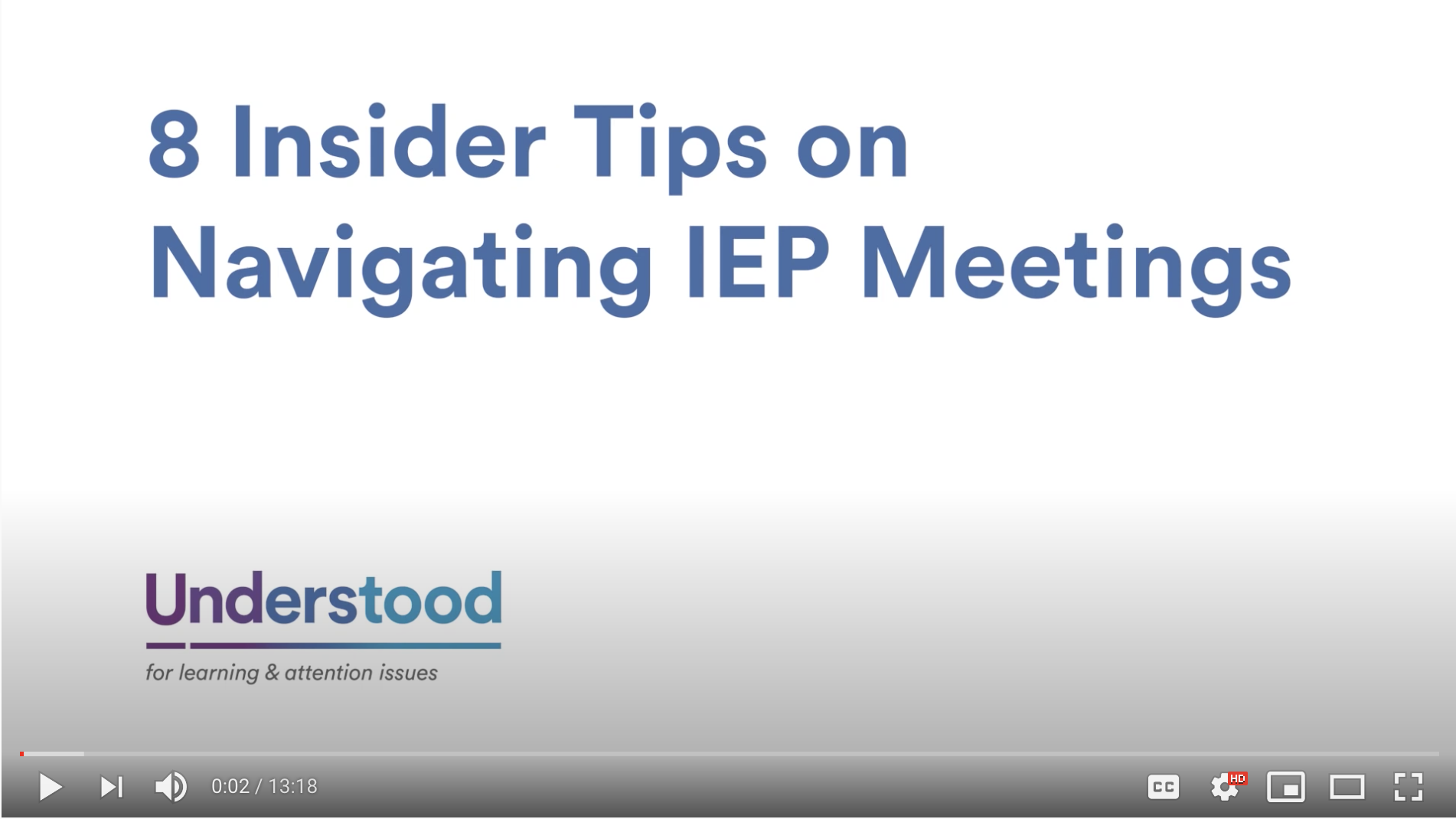 Screenshot for IEP Meeting Tips for Parents: 8 Insider Tips on Navigating an IEP Meeting video.