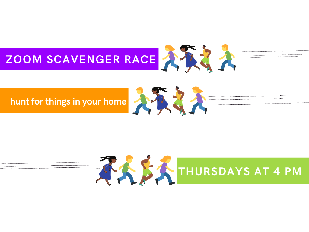 Scavenger RACE!, ages 5-8