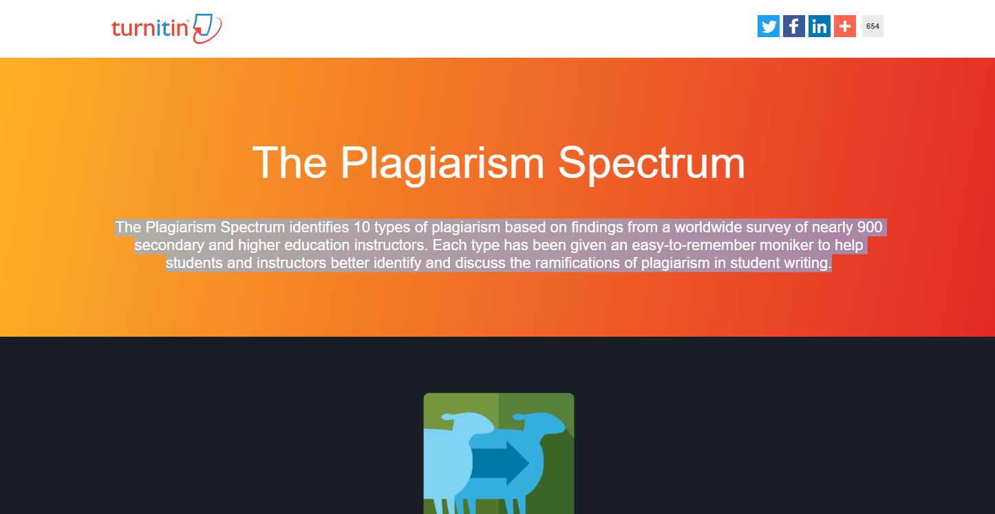Turnitin Plagiarism Spectrum