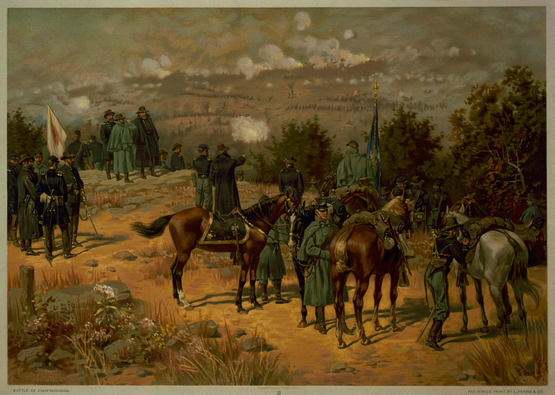 Battle of Chattanooga painting by Thure de Thulstrup