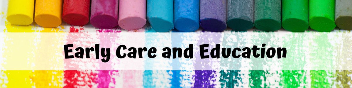 Early care and education banner