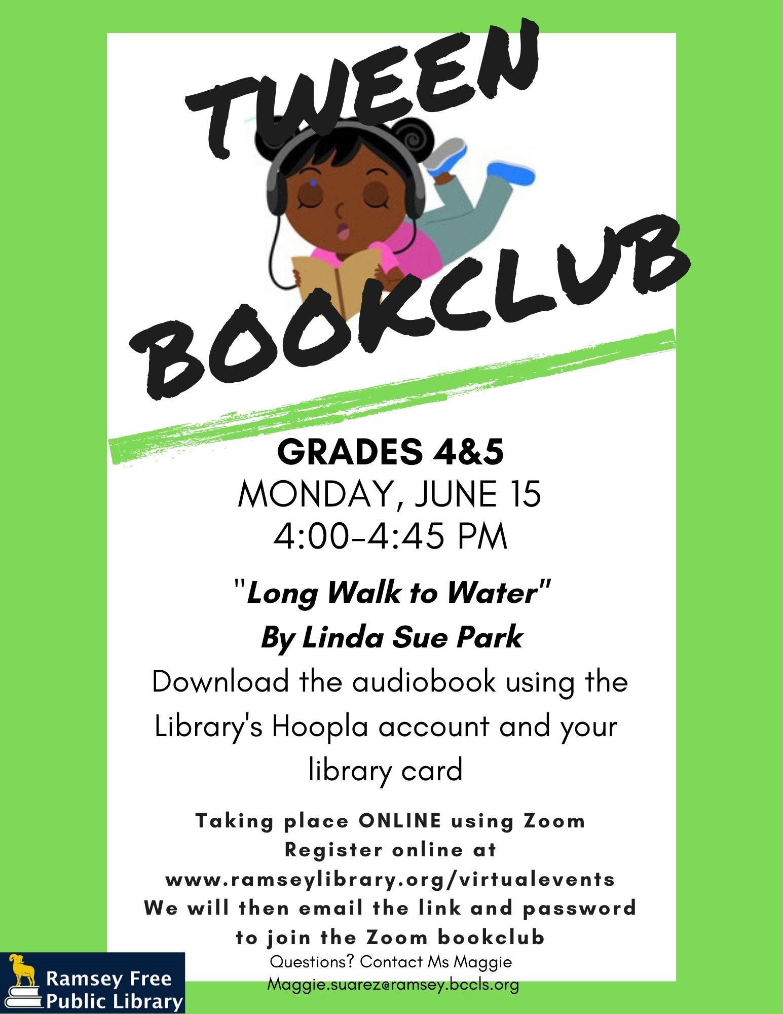 Zoom Tween Book Club