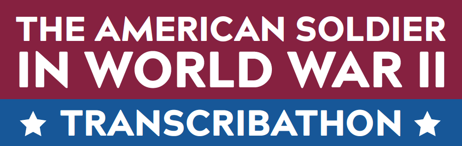 Veterans Day Celebration Transcribathon for The American Soldier in World War II