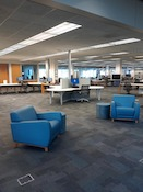 Library furniture socially distanced