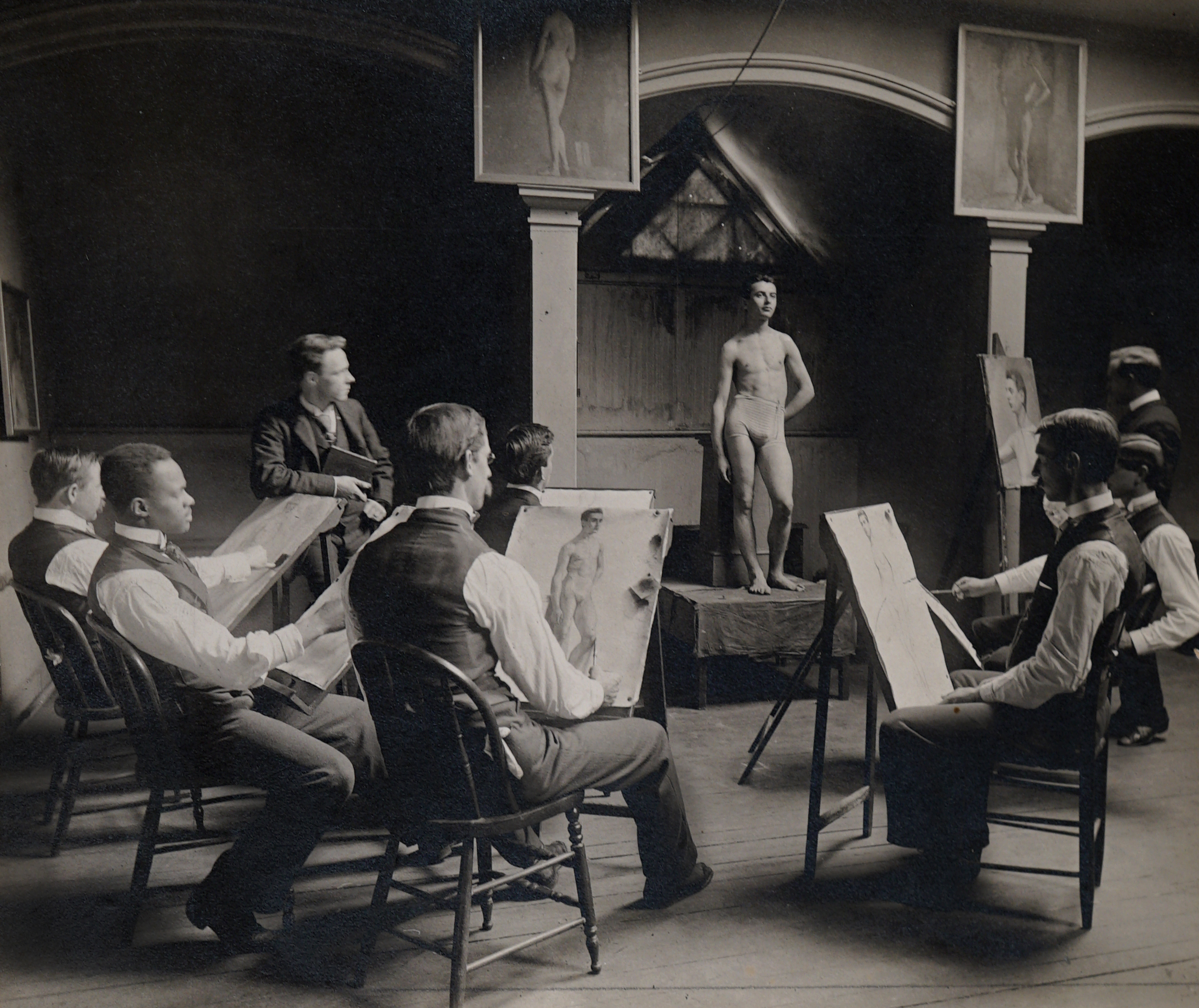 Yale School of Fine Arts students in a painting classroom