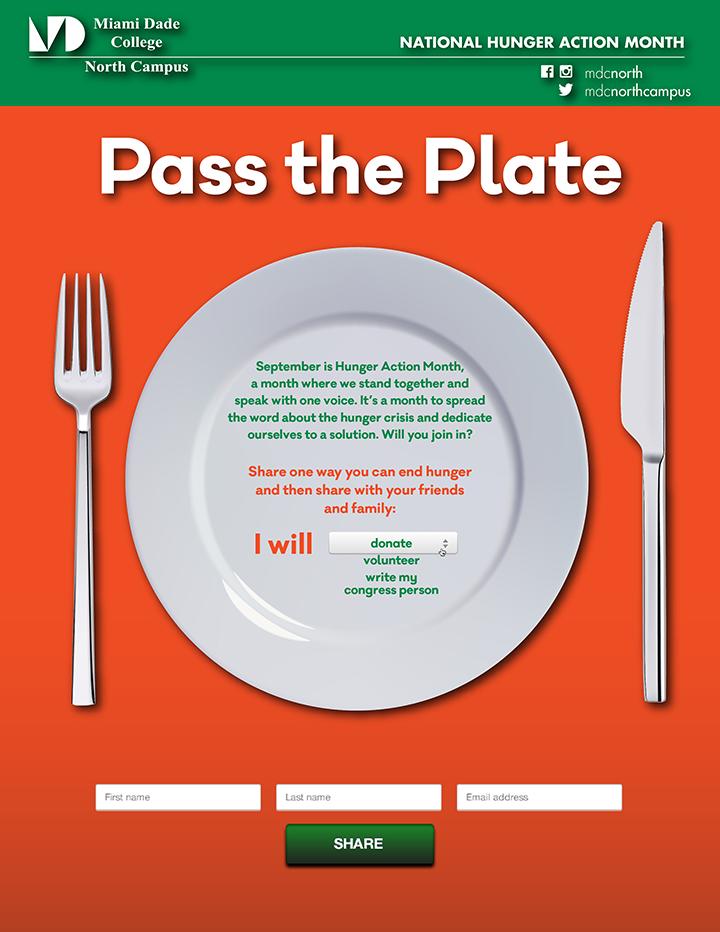 Hunger awareness flyer