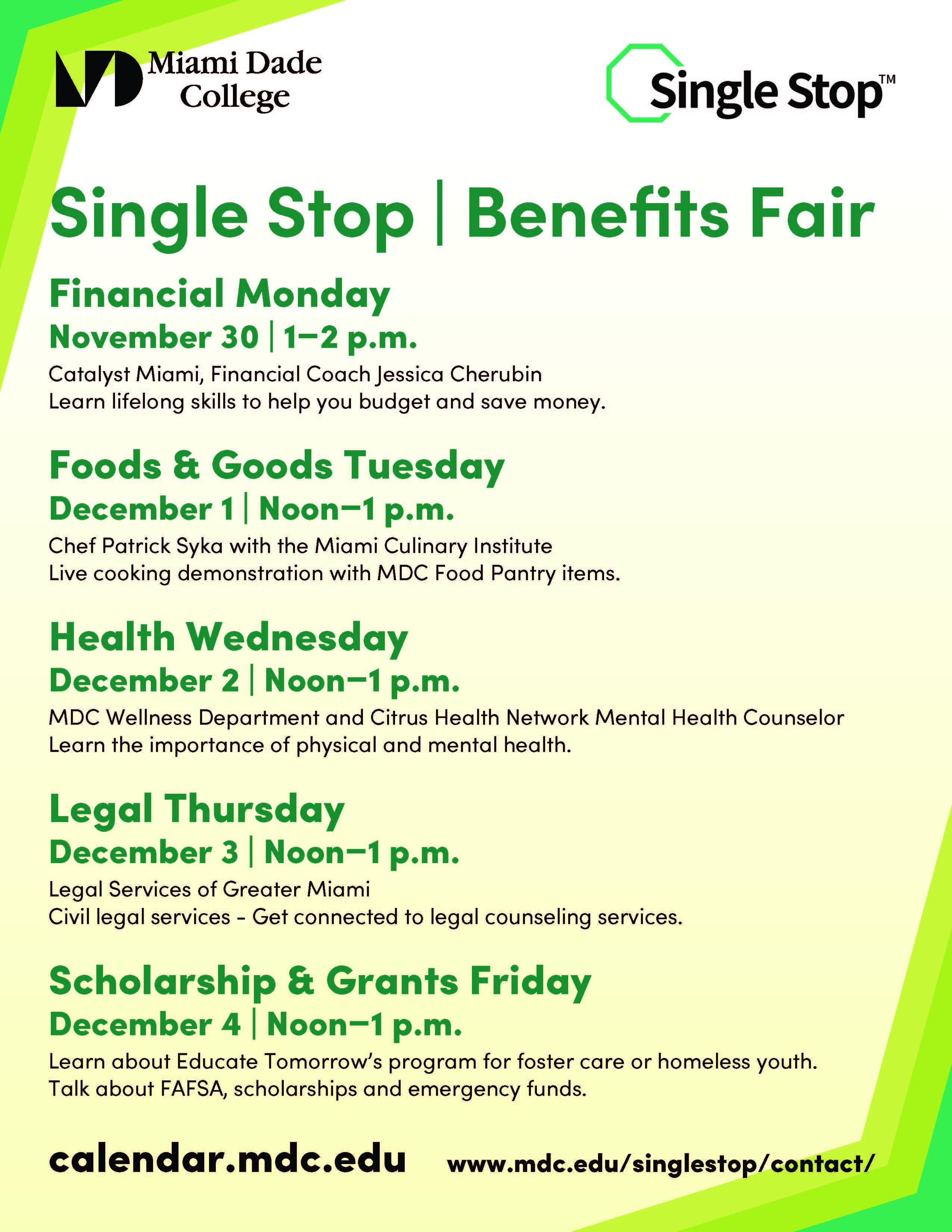 Benefits Fair Flyer