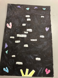 Image of blackout poetry example.