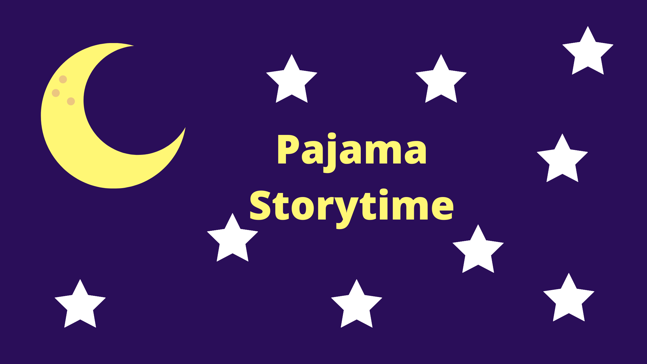 CANCELLED Pajama Storytime: Under the Sea