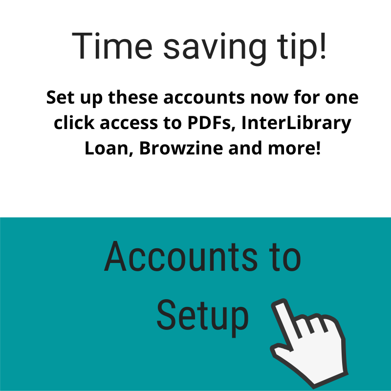 time saving tip accounts to set up