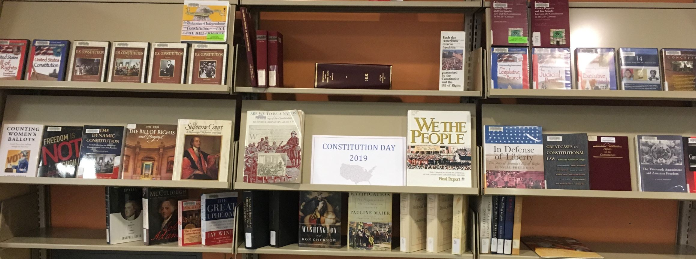 Constitution Day 2019 Display