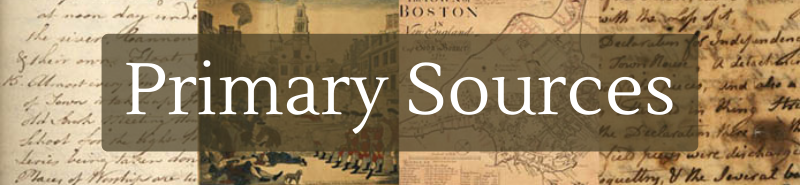 Primary Sources banner