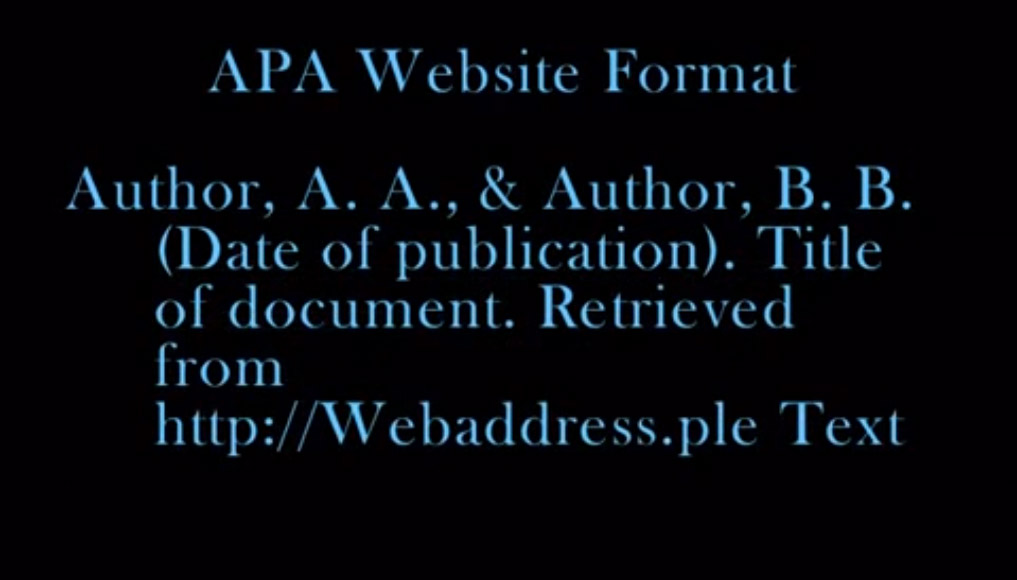 APA Website