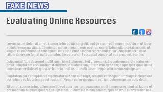 Evaluating Online Resources