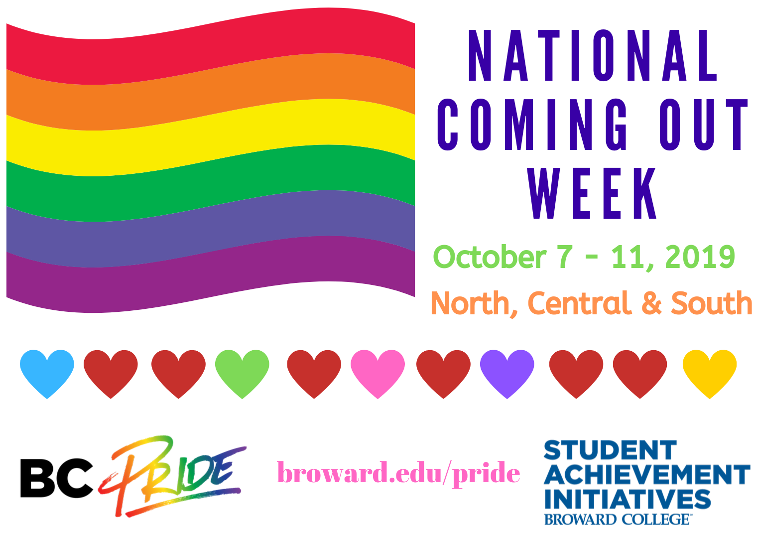 National Coming Out Week - October 7 - 11, 2019