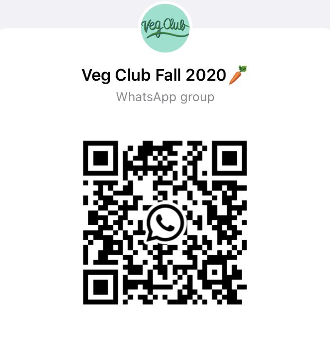 Veg Club Fall 2020 QR Code