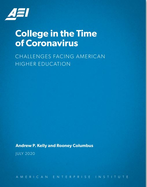 Cover of report College in the Time of Coronavirus