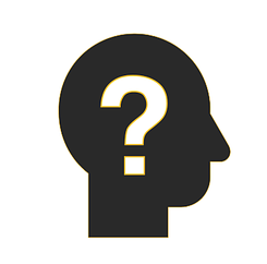Icon of a thinking person with a question mark