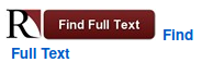 "The find full text icon has a University of Redlands icon next to a red box titled ""Find Full Text"". Click on this icon to query all library resources for full text."