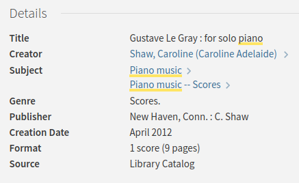 Catalog record for Gustave Le Gray by Caroline Shaw