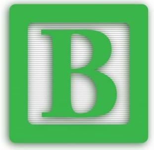 "Alphabet block letter ""b"""