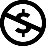 Creative Commons Non-Commercial (NC) License Symbol