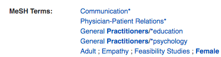 MeSH Terms: Communication, Physician-patient relations, General Practitioners/education, General practitioners/psychology