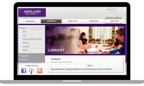 library web site