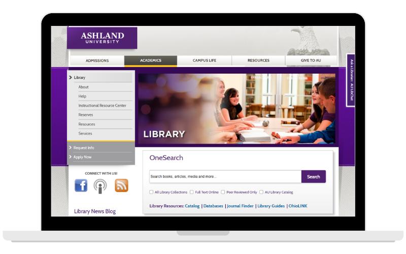 Archer Library web site