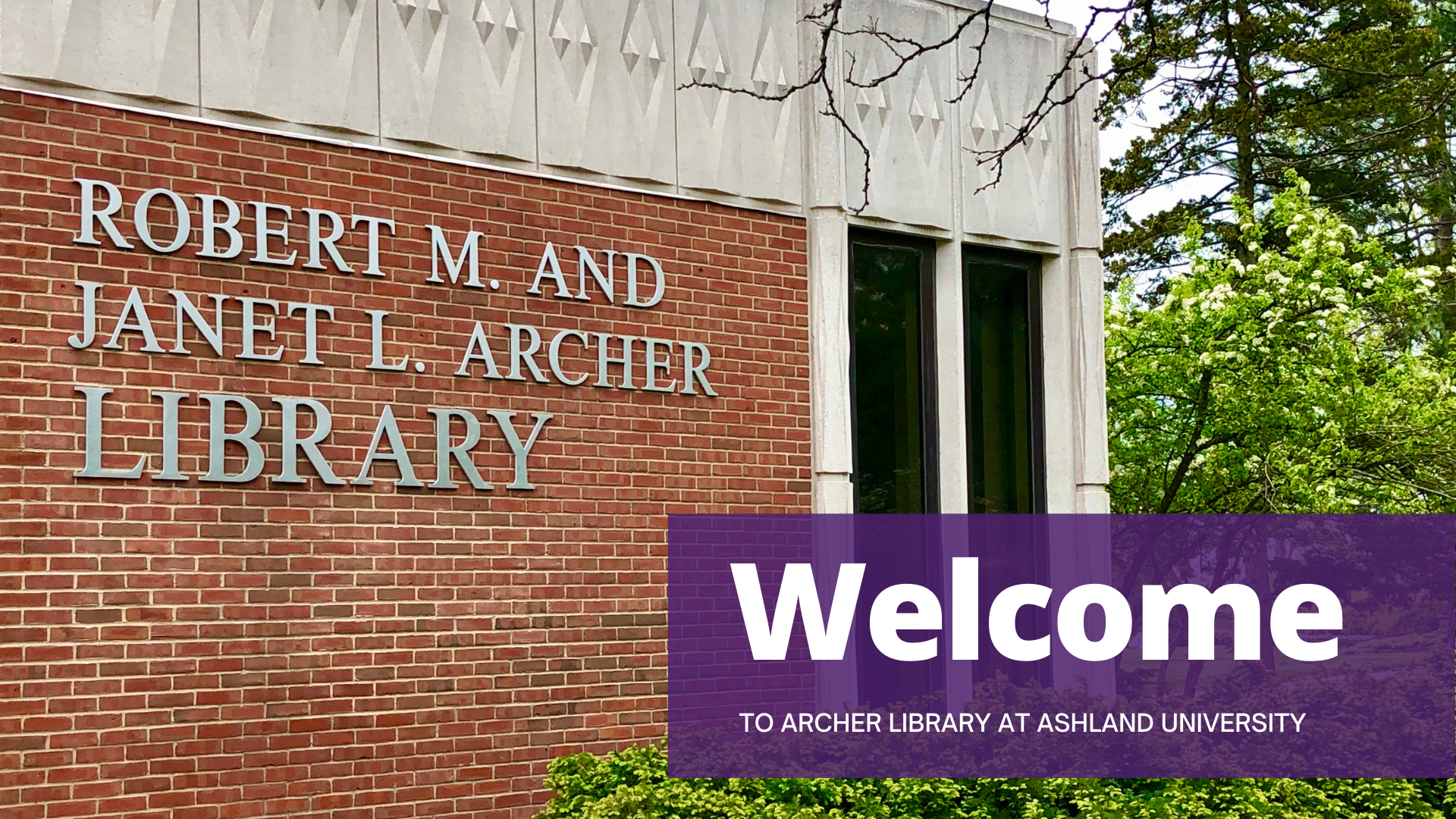 Welcome to Archer Library