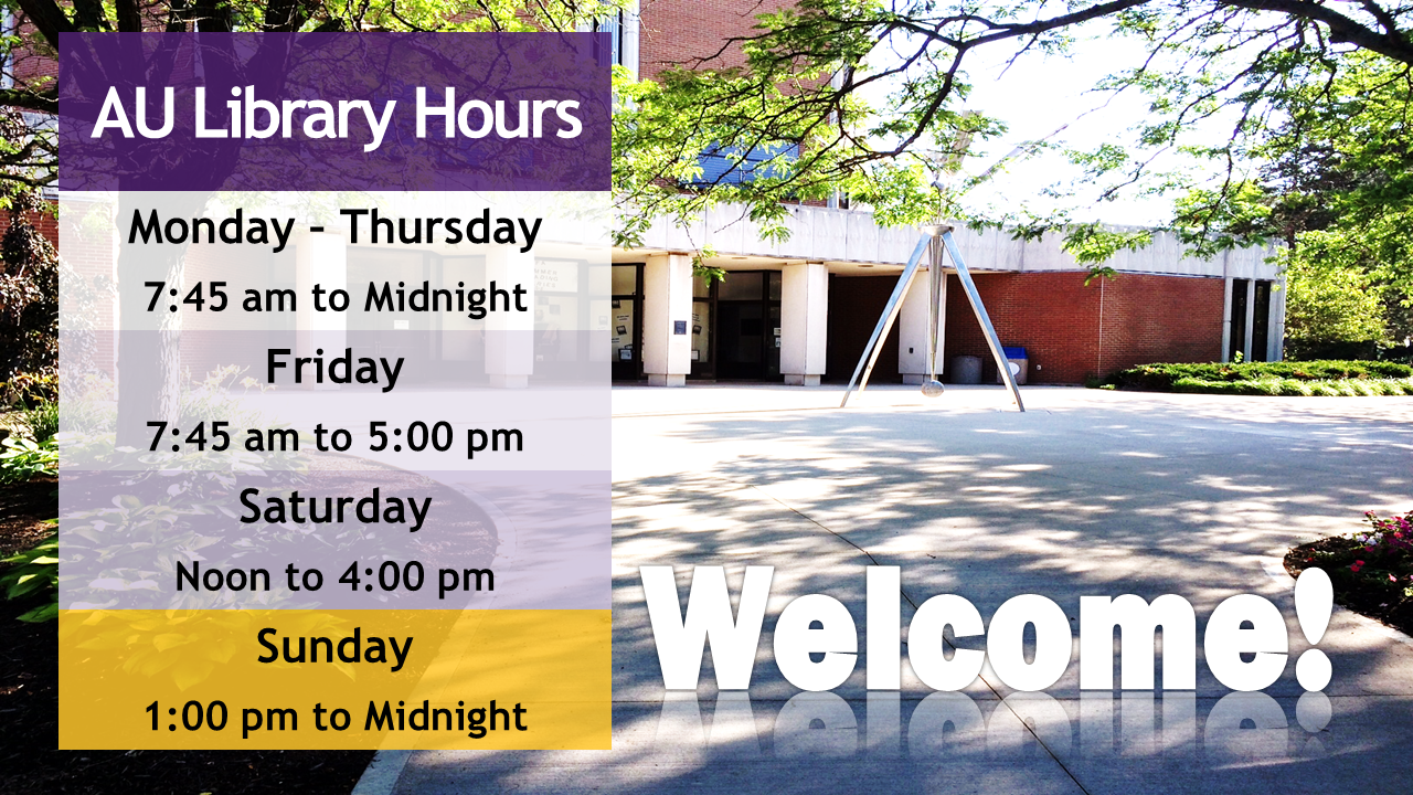 AU Library hours
