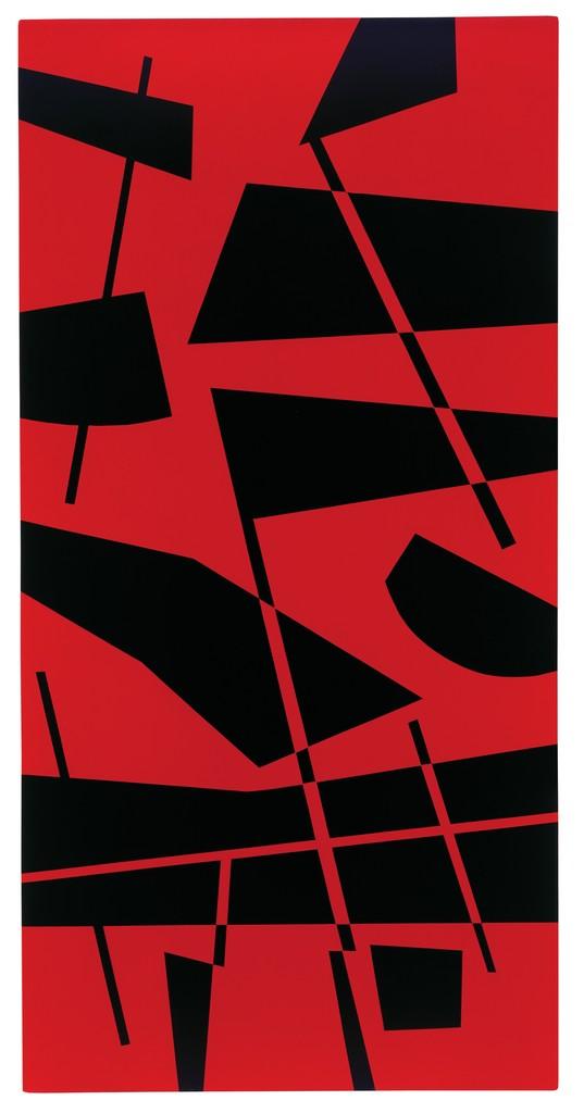 Composición rojo y negro