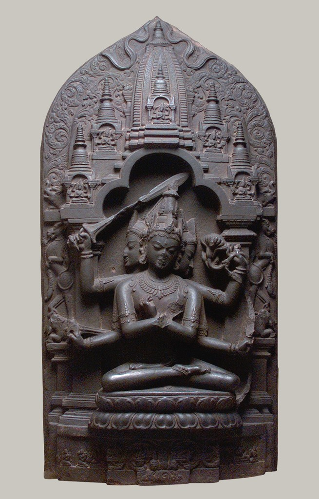 An 11 century sculpture Manjuvajra Mandala