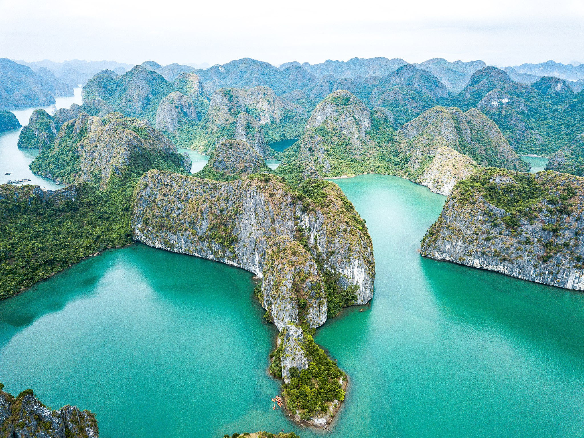 Aerial View of Baie d'halong
