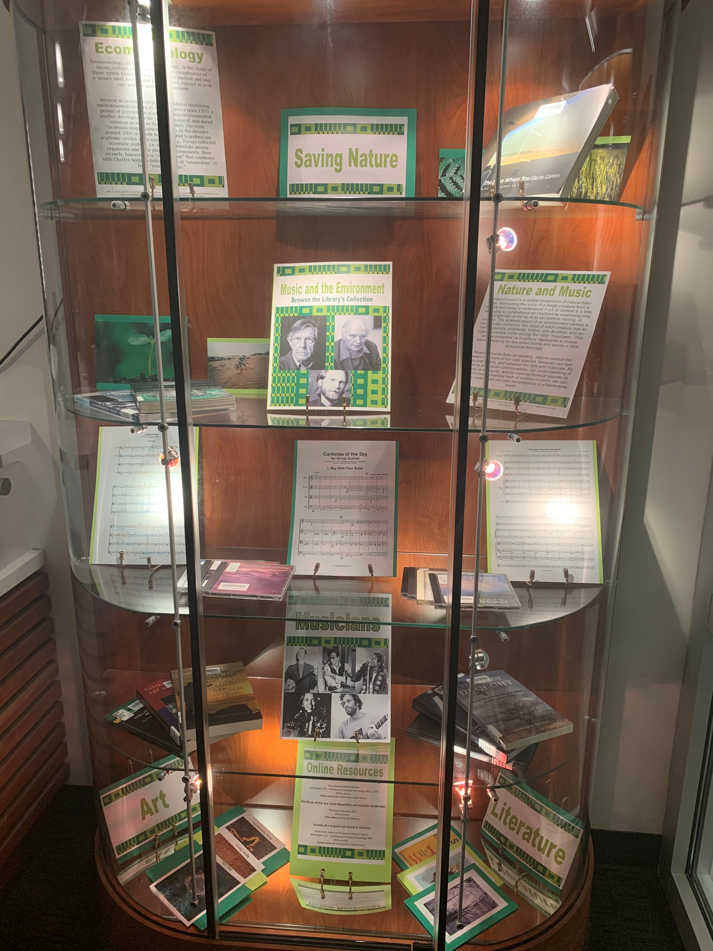 DeVine Display Case featuring Environmentalism in Music materials