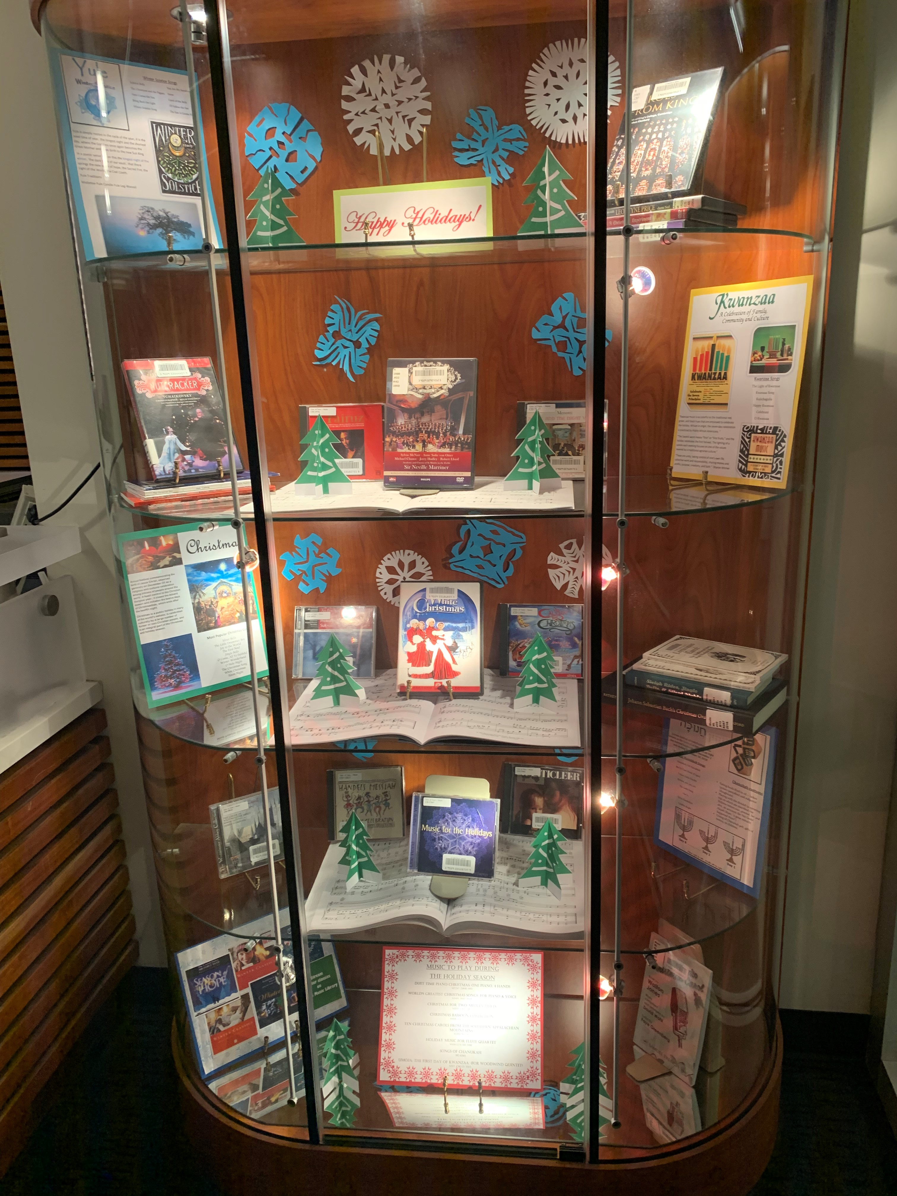DeVine Display Case featuring holiday music material