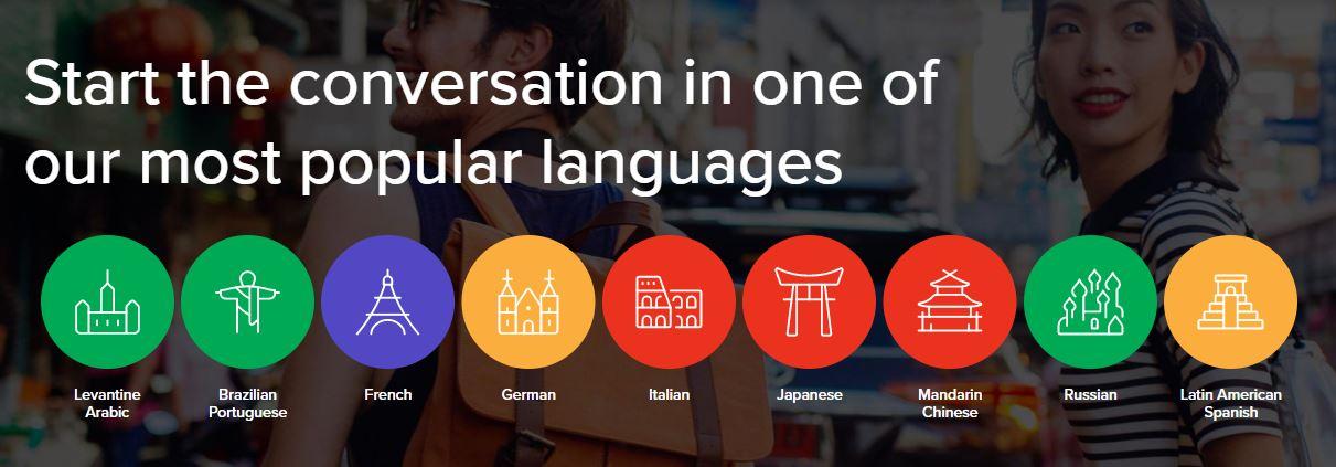 Mango language screenshot