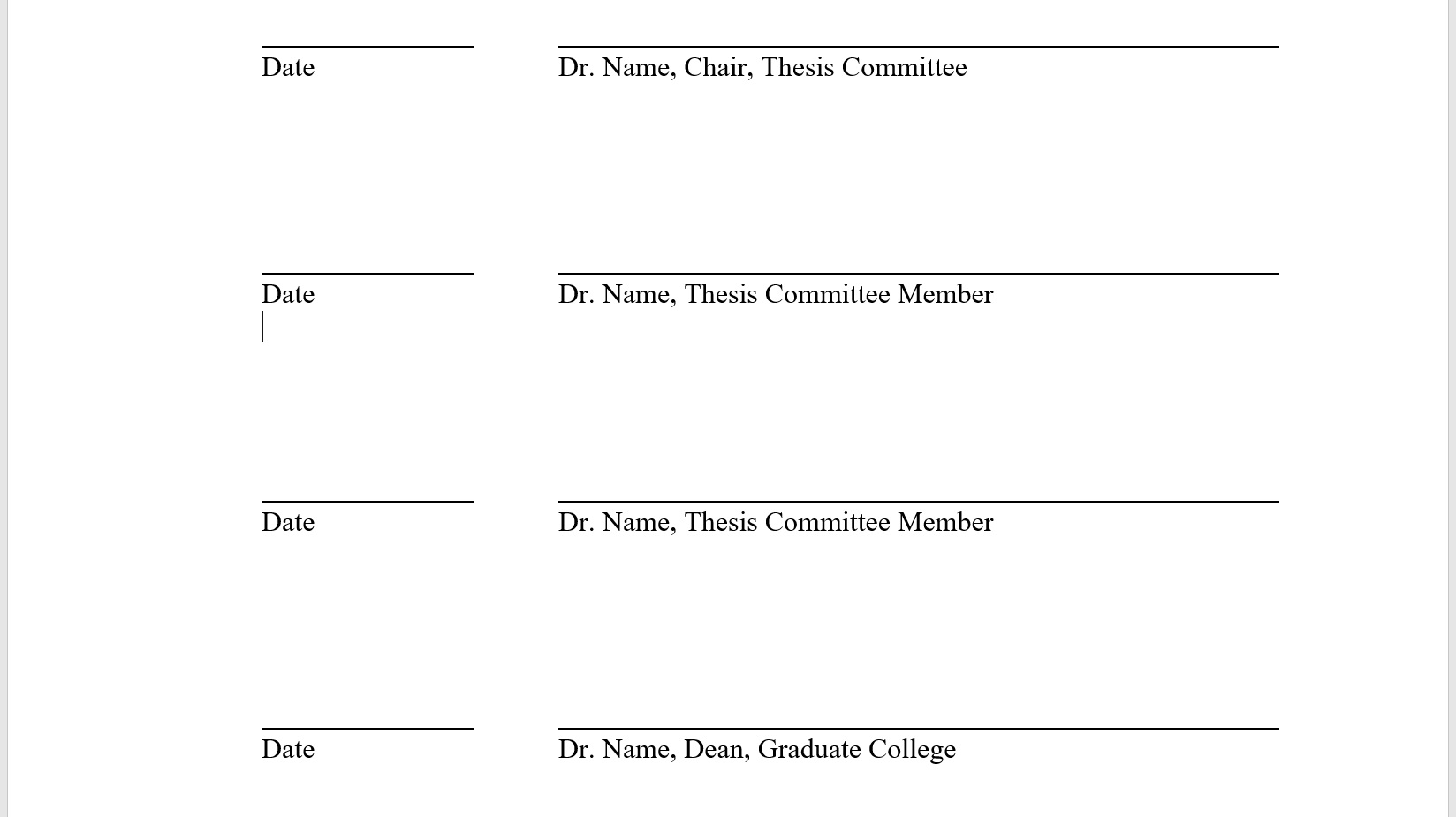 Committee Signature Lines