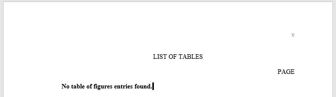 an empty list of tables will produce an updatable